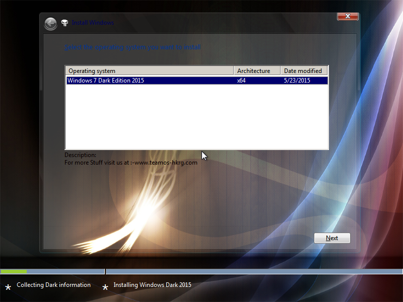 Windows 7 Dark Edition ISO Screenshot 1