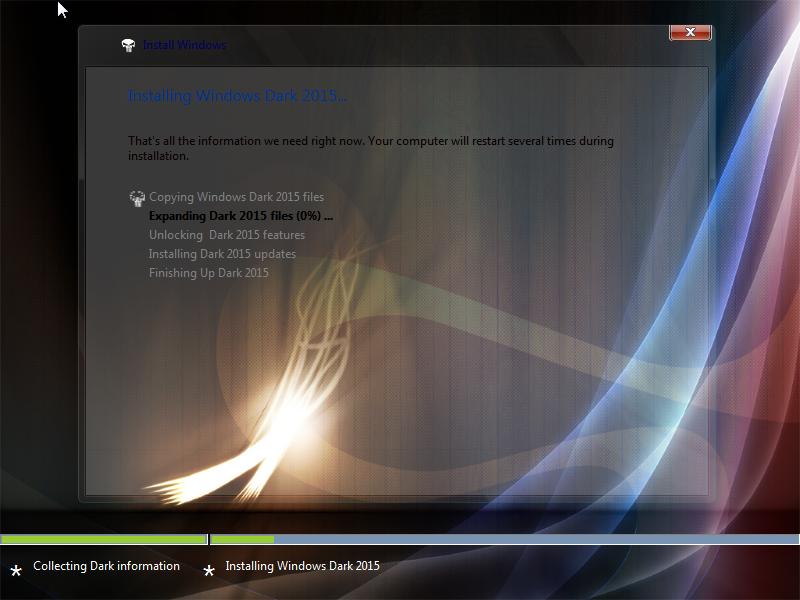 Windows 7 Dark Edition ISO Screenshot 2