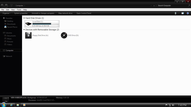 Windows 7 Dark Edition ISO Screenshot 3