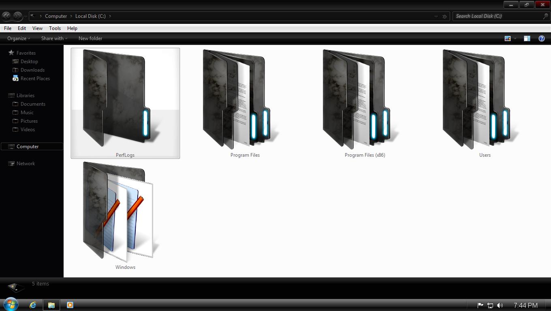 Windows 7 Dark Edition ISO Screenshot 4