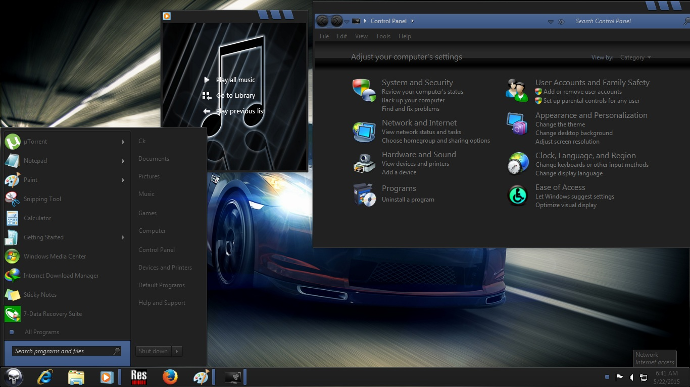 Windows 7 Dark Edition ISO