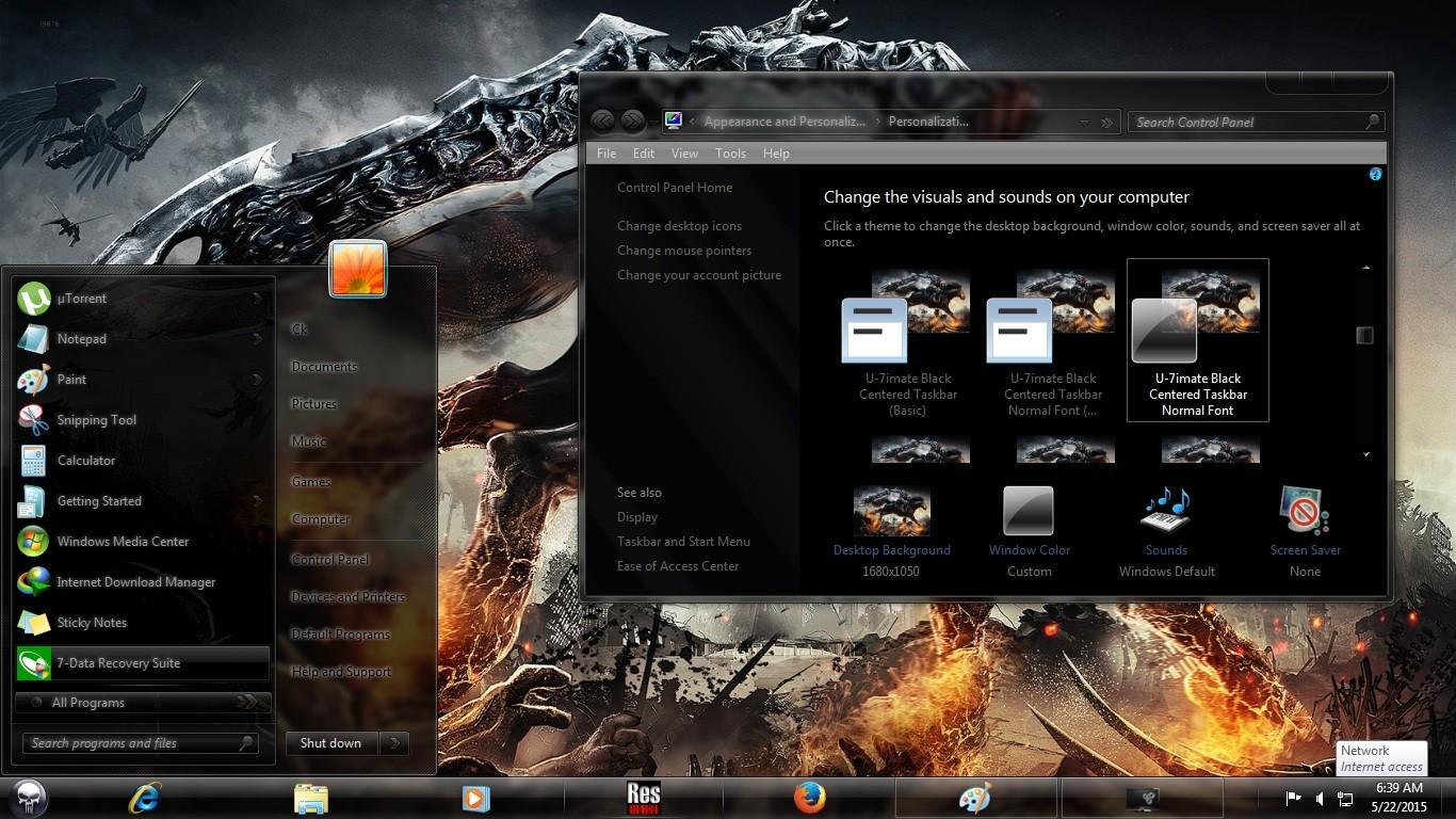 Windows 7 Dark Edition ISO Screenshot 5