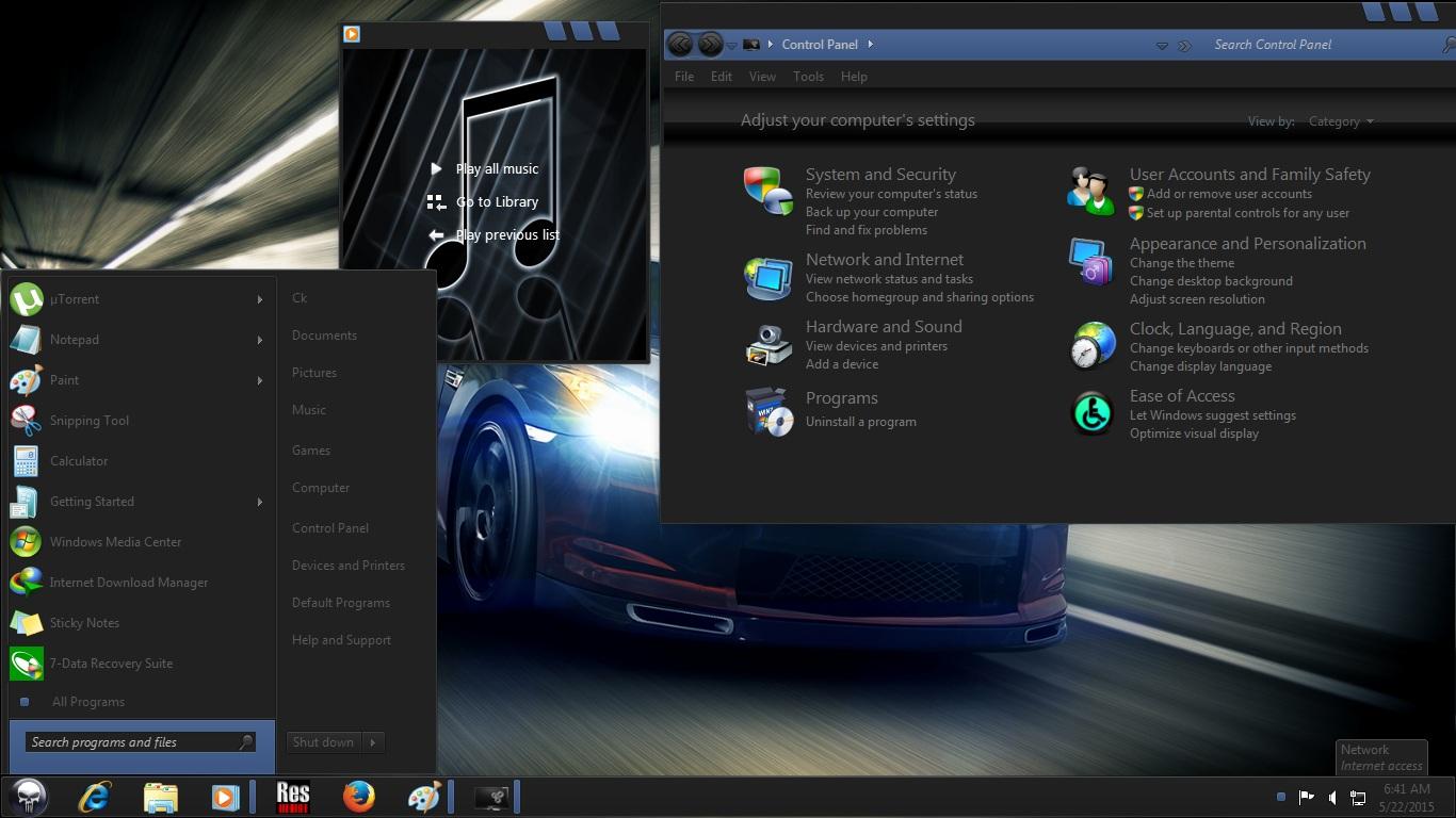 Windows 7 Dark Edition ISO